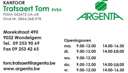 Argenta Tom Tratsaert