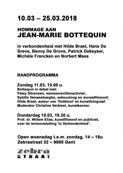 Hommage aan Jean-Marie Bottequin @ Zebrastraat | Gent | Vlaanderen | België
