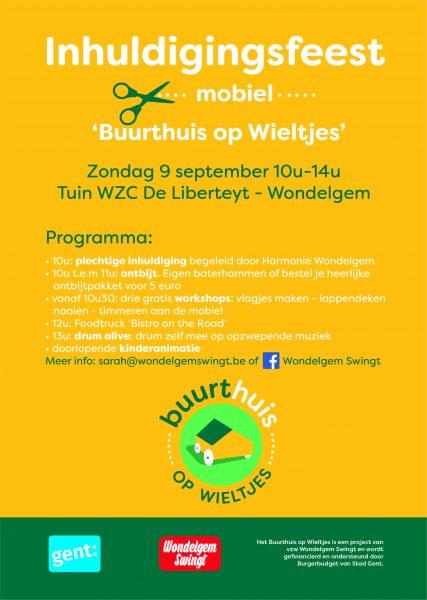 Inhuldigingsfeest 'Buurthuis op Wieltjes' - Wondelgem @ Tuin WZC De Liberteyt | Gent | Vlaanderen | België