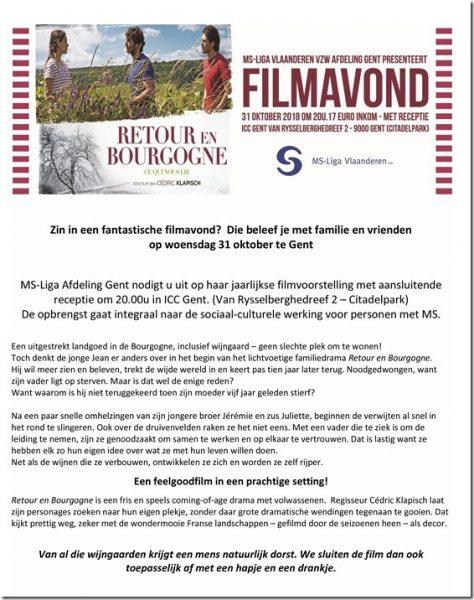 """MS-Liga - Gent presenteert de film """"Retour en Bourgogne"""" @ ICC Gent   Gent   België"""