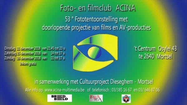 Fototentoonstelling foto- en filmclub ACINA @ 't Centrum | Mortsel | Vlaanderen | België