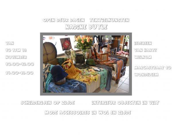 Opendeur Textielkunsten - Nadine Buyle @ Nadine Buyle   Gent   Vlaanderen   België