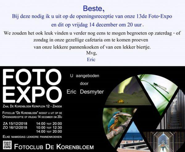 Opening fotoexpo fotoclub 'De Korenbloem' Zingem @ Zaal De Korenbloem | Zingem | Vlaanderen | België
