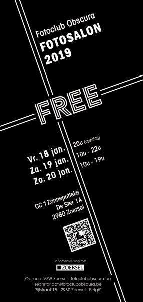 Opening Fotoclub Obscura vzw Zoersel, Fotosalon 2019 - FREE @ CC 't Zonneputteke | Zoersel | Vlaanderen | België