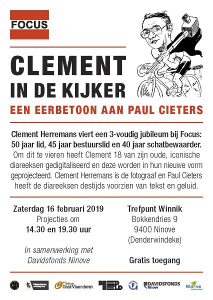 Focus Ninove plaatst 'Clement in de kijker' - Eerbetoon aan Paul Cieters @ Trefpunt Winnik | Ninove | Vlaanderen | België